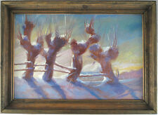 Ukrainian Oil on Canvas Winter Landscape Post-Impressionism Illegibly Signed