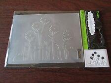 "Embossing Folder ""Floral In Vases"" By Darice New In Package Nip Never Used"