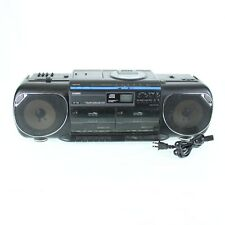 Casio CP750 VTG 1989 AM FM Radio Cassette CD Player High Speed Dubbing FOR PARTS