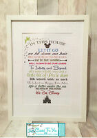 """""""IN THIS HOUSE WE DO"""" Disney   quote A4 PRINT ONLY Mothers Day Gift"""