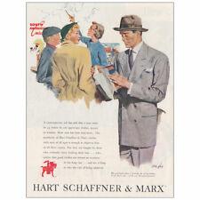 1950 Hart Schaffner & Marx: South America Cruise Vintage Print Ad