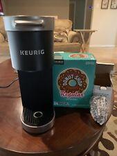 Used Keurig K-Mini Plus Coffee Maker - Matte Black WITH BONUS STUFF