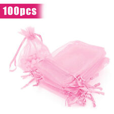 100 Organza Gift Bags Wedding Favor Party Sheer Candy Bag Jewelry Pouches