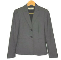 Tahari Arthur S Levine Women Blazer Coat Jacket Black Size 2 Petite Career Suit