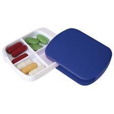 2 x Navy Pocket Pill Box Tablet Medication Medicine Holder Daily Dispenser Day