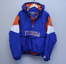 Vintage Florida Gators Starter Pullover Hood Jacket Blue Orange White 90s M FAST