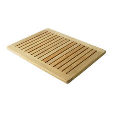 "A GRADE TEAKWOOD LARGE DOOR SHOWER SPA BATHROOM FLOOR MAT INDOOR OUTDOOR 30""x24"""