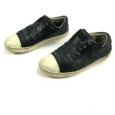 Uggs Leather Lace-Up Sneakers Black - Women's Size 8.5