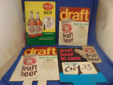 4 Vintage Iron City beer signs cardboard colorful bar decor 1970s Posters Ads