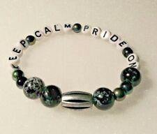Gay Pride Stretchy - Keep Calm Pride On Bracelet -  One Of A Kind