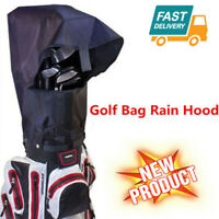 Waterproof Golf Bag Rain Cover Rain Hood Large Black Shoulder Strap Free Post AU
