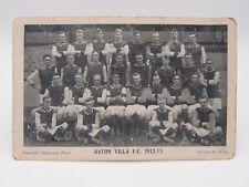 More details for antique aston villa f.c. team postcard 1912-13 postally unused~ good condition