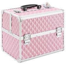 Kosmetikkoffer Beauty Case Schminkkoffer Multikoffer Alu Koffer Pink Neu