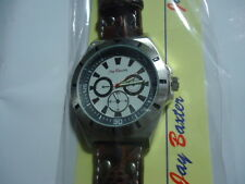 #N01   Armbanduhr Herrenuhr Jay Baxter  Uhrgehäuse XXL Stainlesssteel nickelfr.