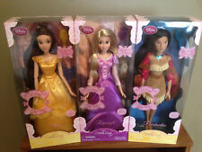 "Disney Princess 17"" Singing Dolls: Rapunzel, Belle, & Pocahontas - NEW IN BOX"