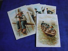 VERY RARE SET OF SIX HARRY PAYNE SIGNED TUCK POSTCARDS - FOR ENGLAND - SER 6087.