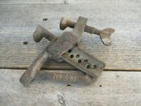 RARE VINTAGE ANTIQUE STANLEY NO. 203 HOLD FAST CLAMP TOOL BENCH HAS RUST
