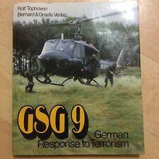 ROLF TOPHOVEN, GSG 9. GERMAN RESPONSE TO TERRORISM. HARDCOVER WJACKET