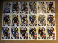 MATCH ATTAX 2020/21 FULL TEAM SET OF ALL 18 LEICESTER CITY CARDS LEI1-LEI18