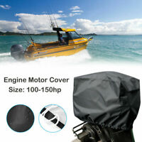 100hp - 150hp Boat Outboard Motor Engine Cover Universal Trailerable For  Black