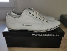 Baskets REDSKINS FABRI CUIR BLANC EFFET FROISSE / Taille.44
