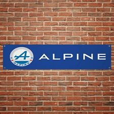 Renault Alpine Banner Garage Workshop PVC Sign Track Display A110 Classic Car
