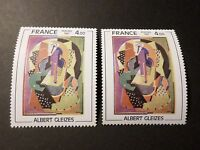 FRANCE 1981 VARIETE timbre 2137, TABLEAU GLEIZES, neuf**, PAINTING MNH STAMP