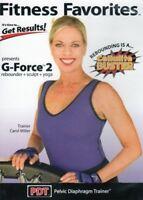 FITNESS FAVORITES G FORCE V2 REBOUNDING DVD CAROL MILLER EXERCISE WORKOUT NEW