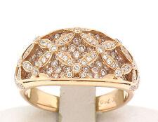 NEW 18k Solid Rose Gold 1.22ctw VS F Diamond Raised Open Work Ladies Band Ring