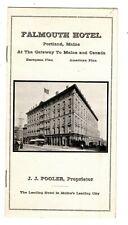 Brochure, Falmouth Hotel, Portland, Me, ca1900s-1920s