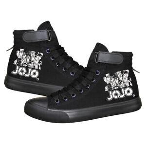 Anime JoJo's Bizarre Adventure JOJO Student Casual Canvas Shoes Sneaker