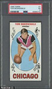 1969 Topps Basketball #7 Tom Boerwinkle Chicago RC Rookie PSA 5 EX