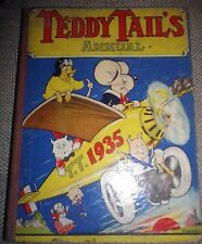 Teddy Tail's Annual 1935 - Vintage Children's Illustrated Book (Tails) Cartoons