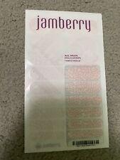 Jamberry Vinyl Nail Wraps ~ Full Sheet ~ Rose Quartz Lotus ~ Retired ~(New)