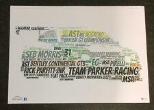 Team PARKER RACING Bentley Continental GT3 Morris & Parfitt Word Art ~ A4 POSTER