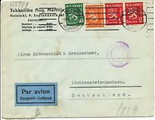FINNLAND 1942/3 3 versch. Zensurbf 2 davon Luftpost alle m. finn. u. dt. ZENSUR