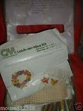 Vintage CM  Latch Hook Lid Cover Bath Hooked Kit