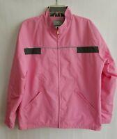 New Balance Jacket Windbreaker Zip Front Womens Pink Lined Lightweight Size XL