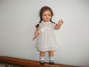 Ancienne poupée made in France Gégé /8, 30 cm, yeux marron dormeurs avec cils