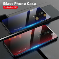 For Xiaomi Mi 9T 10T Pro Poco X3 NFC Carbon Fiber Texture Glass Hard Case Cover