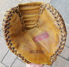 Vtg Baseball Mitt Glove-Leather-Professional Model No. 0238-Distressed-Antique