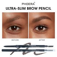 PHOERA 2in1 Drawing Eye Brow Waterproof Eyeliner Eyebrow Pen Pencil + Brush