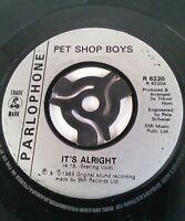 "Pet Shop Boys – It's Alright Vinyl 7"" Single UK Parlophone – R 6220 1989"