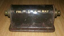 Antique - Art Deco - Park Sherman - Date - Desk Calendar Rare Metal
