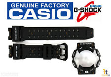 CASIO G-Shock GR-9110BW-1 BLACK Rubber Watch BAND & BEZEL Combo GW-9110BW-1