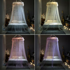Kids Baby Bed Canopy Round Mosquito Net Curtain Bedding Dome Tent Cotton Large