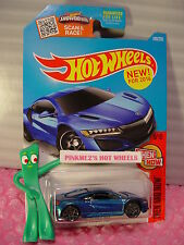 Case J 2016  Hot Wheels '17 ACURA NSX #108✰Blue; gray y5✰Then Now✰1:64 scale