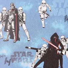 Gardinenstoff Verdunklungsstoff Blackout Dimout Star Wars hellblau 1,50m Breite