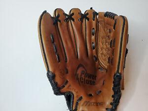 "Mizuno Prospect PowerClose GPL1150 11.5"" Brown Leather Youth Baseball Glove LHT"