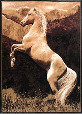 5x7  Area Rug  Jumping Horse Animal Safari Design New